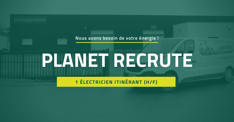 PlanET recrute 1 électricien itinérant (H/F)